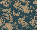 Chamberlain - Teal Mono Floral by Nancy Gere from Windham