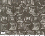 Stitch Square - Stone Brown Gray from Michael Miller