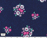 Bitty Bouquet - Flowers Midnight Blue from Michael Miller