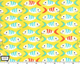 Sea Buddies - Little Fishes Yellow from Michael Miller