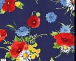 Bette's Bouquet - Navy Blue from Michael Miller