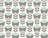 Joyful Garden - Tulip Aqua Grey from David Textiles