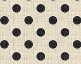 Madame et Homme - Dots Black on Tan by Larry Fanning from David Textiles