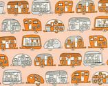 On The Road Metallic - Orange Trailers Aurelia Manouvrier from Robert Kaufman