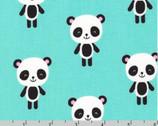 Urban Zoologie - Panda Aqua by Ann Kelle from Robert Kaufman