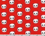 Urban Zoologie Minis - Panda Red by Ann Kelle from Robert Kaufman