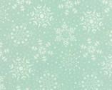 Very Merry - Snowflakes Light Aqua from Moda