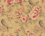 Mille Couleurs - Sepia Tan Floral Bird by 3 Sisters from Moda