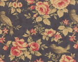 Mille Couleurs - BCS Slate Floral Bird by 3 Sisters from Moda