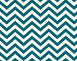 Mod Basics - Skinny Chevron Teal from Birch Fabrics