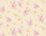 Sweet Baby Rose - Light Apricot Rosa Posa by Dover Hill from Benartex