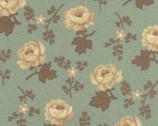 Southern Vintage Reproduction - Rose Aqua Floral from Washington Street Studio