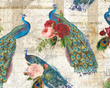 Baroque Peacock Cream from David Textiles