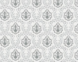 Lavishmint - Grey Divine Damask by Jackie McFee from Camelot Fabrics