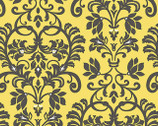 Audrey - Yellow Damask by Color Principle from Henry Glass