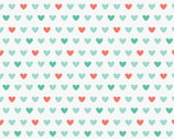 Jungly - Teal Aqua Hearts by Andra Turk from Camelot Fabrics