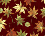 Shades - Wine Leaf Toss with Metallic by Norman Wyatt Jr. from P & B Textiles