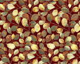 Shades - Wine Leaves with Metallic by Norman Wyatt Jr. from P & B Textiles