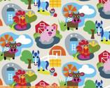 Farm - Barn Farm Animals by French Bull from Windham Fabrics
