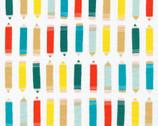 Sidewalk - Art Class White KNIT 54 Inch by Rae Hoekstra from Cloud9 Fabrics