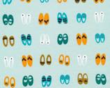 Sidewalk - Fancy Steps Slippers Turquoise KNIT 54 Inch by Rae Hoekstra from Cloud9 Fabrics