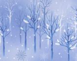 Snowflake Wonderland - Blue Tree Silhouettes from EE Schenck