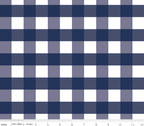 One Inch Gingham - Navy from Riley Blake