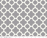 "Home Dec Quatrefoil - Gray 54"" Wide Cotton Duck Fabric from Riley Blake"