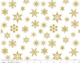 Sparkle - Snowflake Gold from Riley Blake