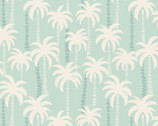 Tropicana - Palm Trees Blue Aqua from Lewis and Irene