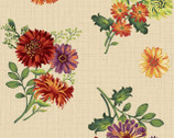 Autumn Abundance - Floral Cream Beige by Jennifer Brinley from Studio E