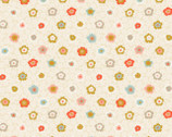 Obi - Metallic Beige Flowers from Quilt Gate