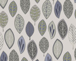 Neutral Ground - Floating Leaves Gray from Maywood Studio