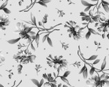 Gradiance - Tossed Floral Gray from Maywood Studio