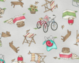 Roam Sweet Home - Tossed Novelty Objects Gray by Kirs Lammers from Maywood Studio