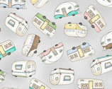 Roam Sweet Home - Trailer Toss Soft Gray by Kirs Lammers from Maywood Studio