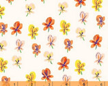 Sleeping Porch - Pansies Cream COTTON LAWN by Heather Ross from Windham Fabrics