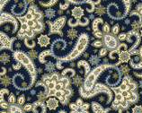 Regent's Park - Paisley Navy by Monique Dillard from Maywood Studio