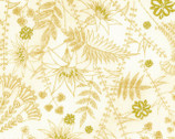 Golden Beige Cream METALLIC Florals from EE Schenck