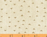 Atlas - Pyramids Triangles Brown Beige by Another Point of View from Windham Fabrics