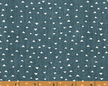 Atlas - Mini Pyramids Triangles Muted Blue Demin by Another Point of View from Windham Fabrics