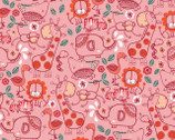 Jungly - Pink Jungle Friends by Andrea Turk from Camelot Cottons