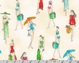 Beach Divas - Swimsuits Cabana by Anne Tavoletti from Robert Kaufman