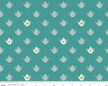 Wonderland 2 - Tea Pot Teal Sparkle by Melissa Mortenson from Riley Blake