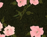 Mademoiselle - Roses Pink Black by Jessica Mundo from SPX Fabrics
