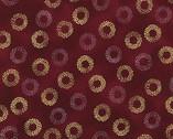 Sparkle Dot - Burgundy Circles Metallic from Robert Kaufman