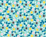 Glint - Floret Turquoise by Lorena Siminovich from Cloud9 Fabrics