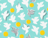 Glint - Flock Turquoise by Lorena Siminovich from Cloud9 Fabrics