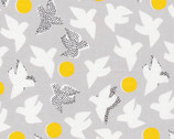 Glint - Flock Gray by Lorena Siminovich from Cloud9 Fabrics