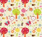 Buzzy Garden FLANNEL - Cream by RBD from Alpine Fabrics